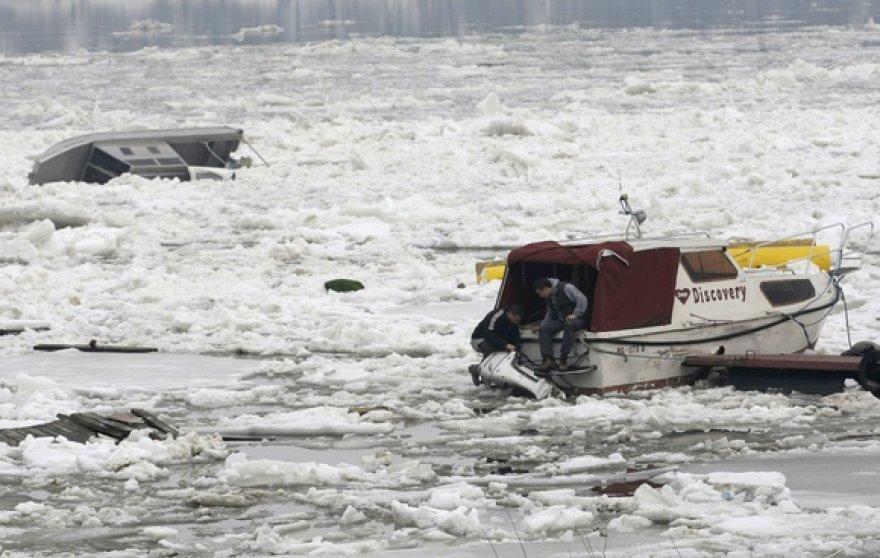 Ledų sangrūdos Dunojaus upėje