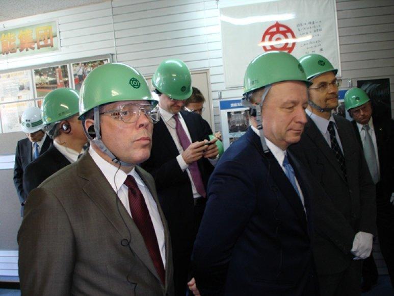 "Andrius Kubilius ""Hitachi Works"" gamykloje"