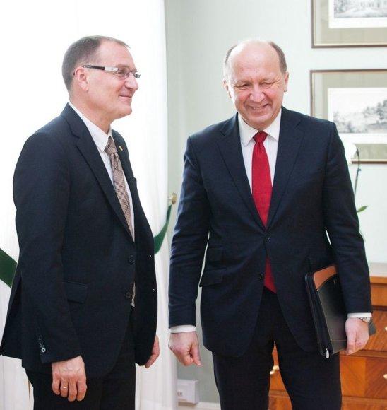 Algis Čaplikas ir Andrius Kubilius