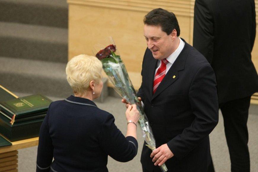 Sveikinamas naujasis vidaus reikalų ministras Artūras Melianas