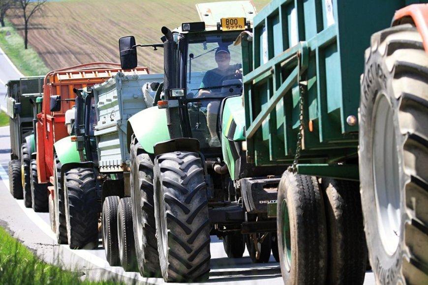 Čekijos ūkininkų protesto akcija