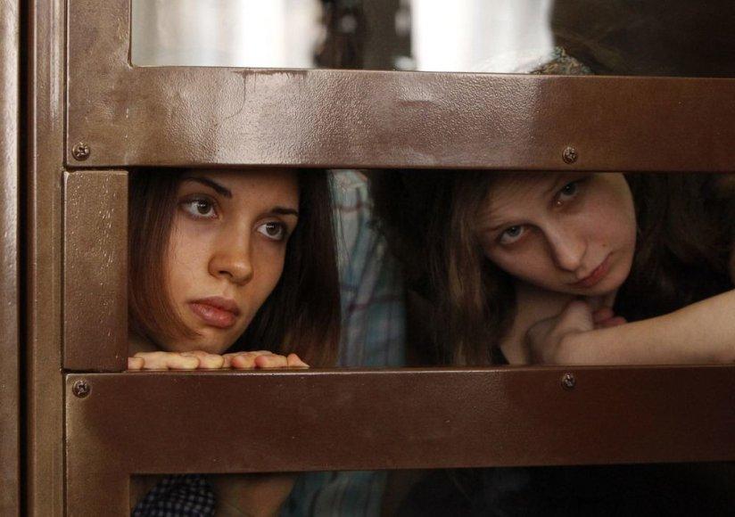 Nadežda Tolokonnikova ir Marija Alyokhina teisme