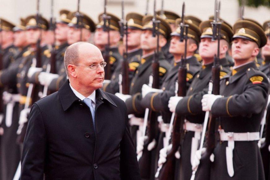Monako kunigaikščio Alberto II ir kunigaikštienės Charlene vizito akimirka
