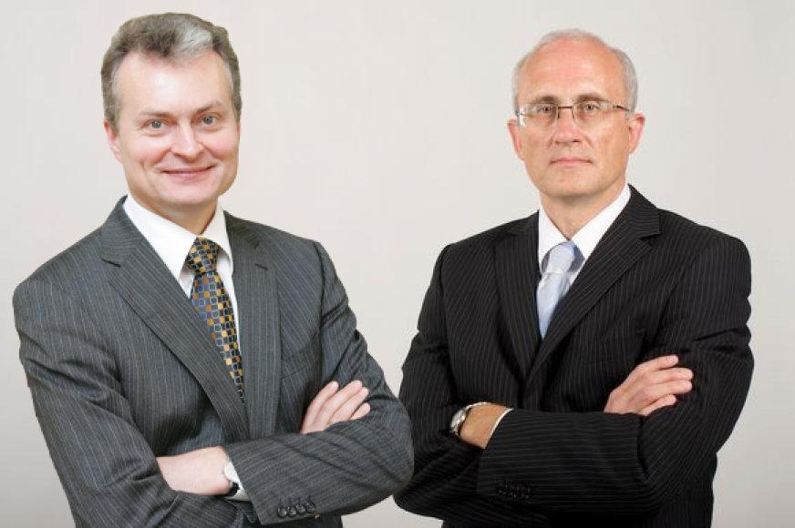 Gitanas Nausėda ir Stasys Jakeliūnas