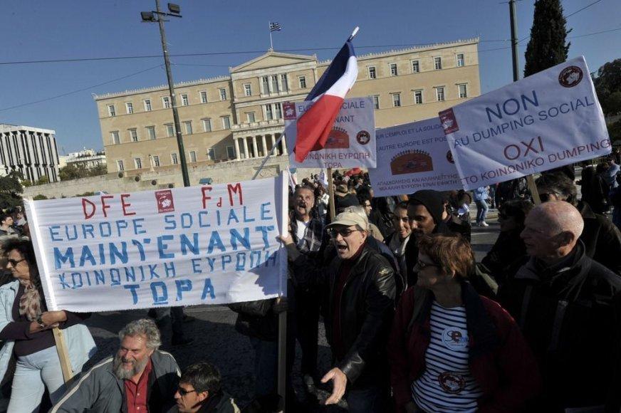 Protestuotojai Graikijoje