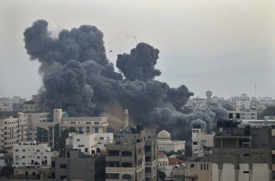 Raketos sprogimas Gazos mieste