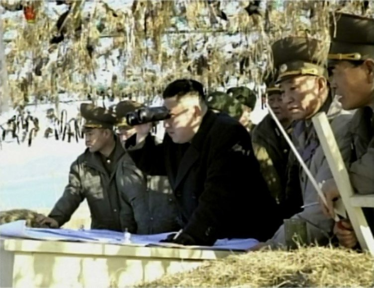 Kim Jong Uno vizitas netoli Pietų Korėjos salos
