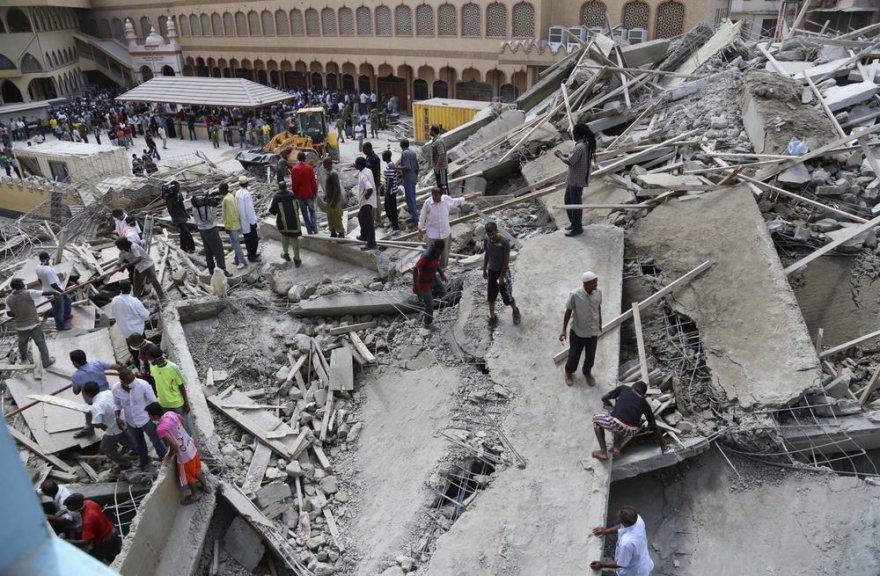 Sugriuvęs pastatas Tanzanijoje