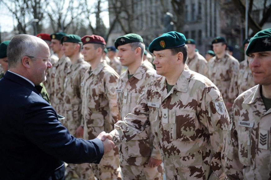 Lietuvos karių išlydėjimo ceremonija