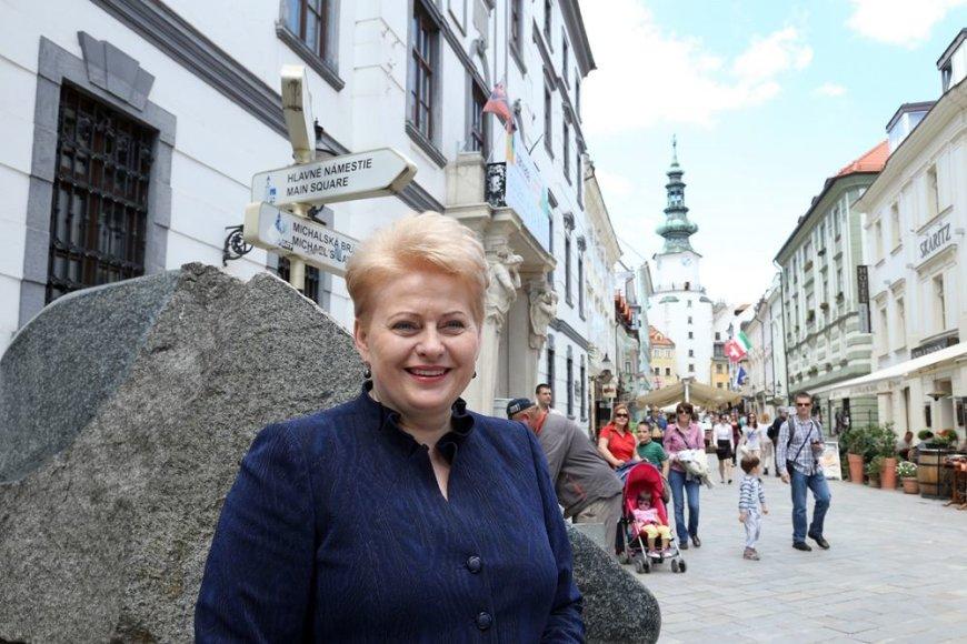 Dalia Grybauskaitė Bratislavoje
