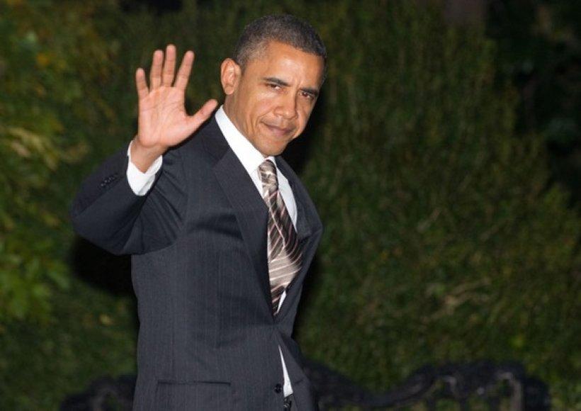 JAV Prezidentas Barackas Obama prieš išvykstant į Lisaboną