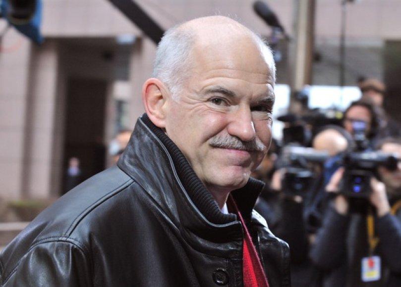 Graikijos ministras pirmininkas George'as A. Papandreou