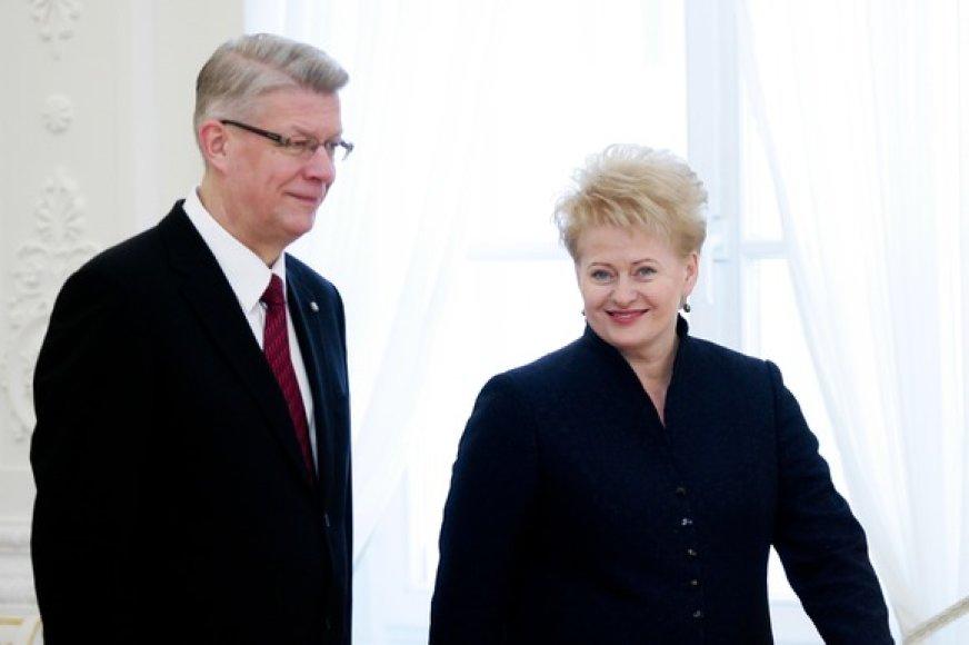 Valdis Zatleras ir Dalia Grybauskaitė