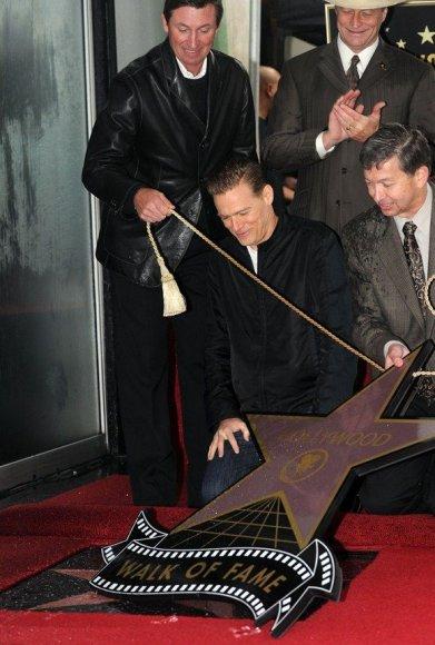 Bryano Adamso žvaigždės atidengimo ceremonija.