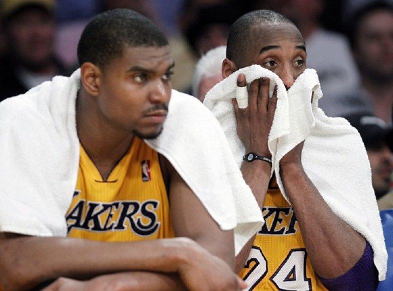 Andrew Bynumas ir Kobe Bryantas