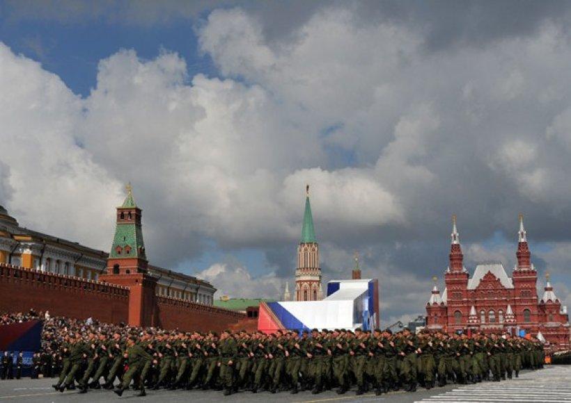 Rusijos karių maršas Raudonojoje aikštėje