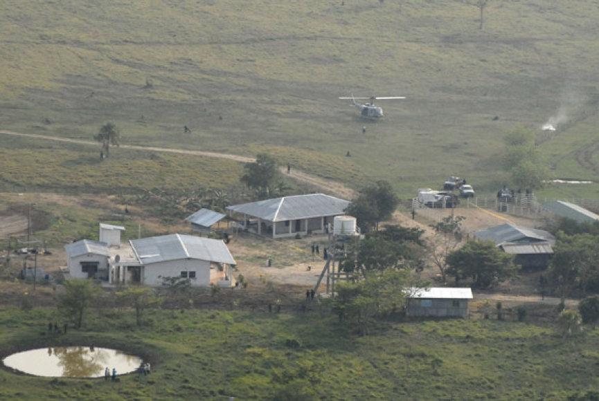 Ūkis, kuriame buvo rasti kūnai