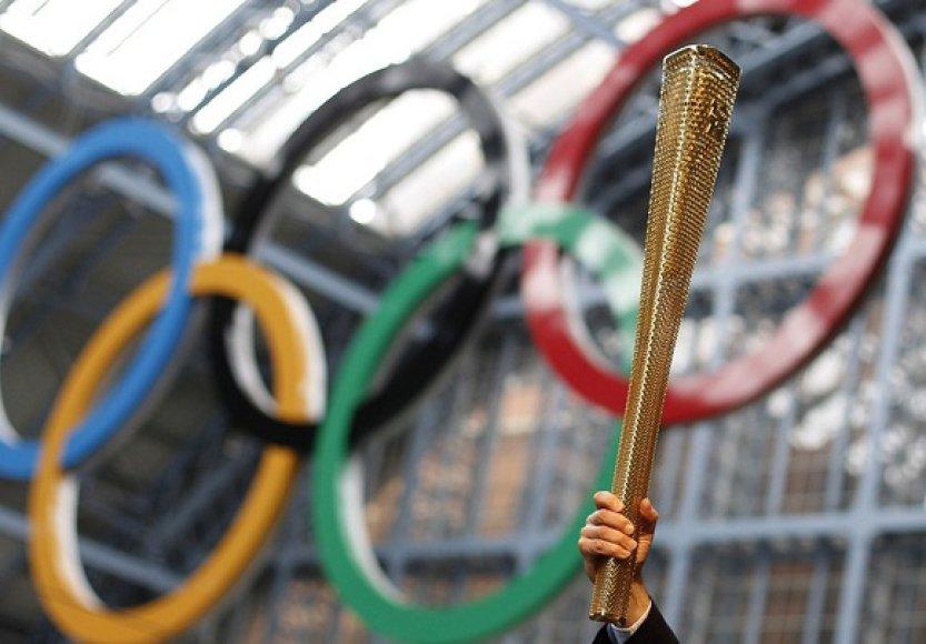Londono olimpinių žaidynių deglas