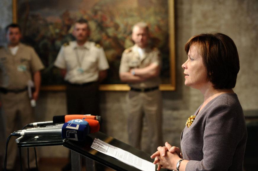 Krašto apsaugos ministrė Rasa Juknevičienė