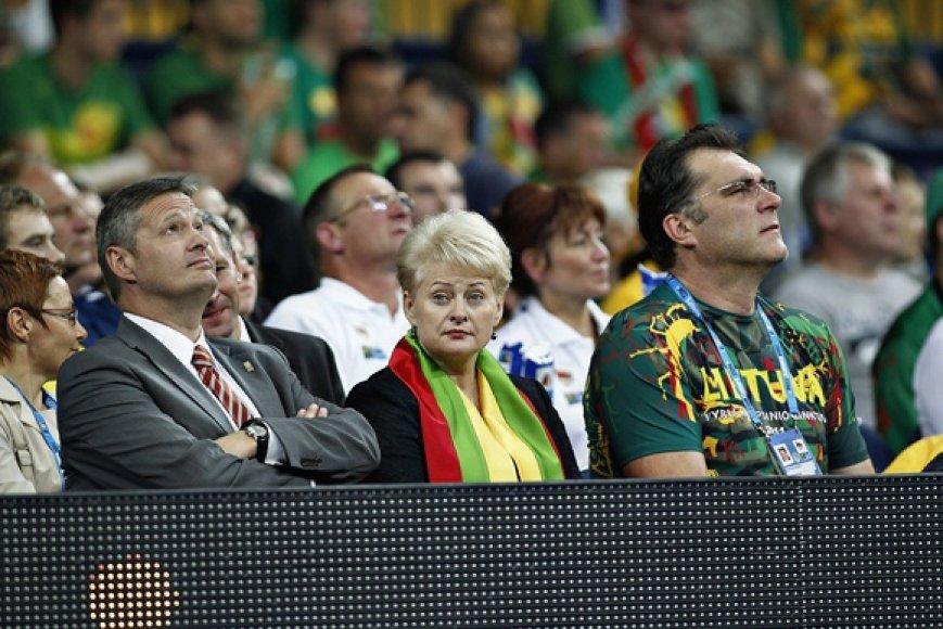 Olafuras Rafnssonas, Lietuvos prezidentė Dalia Grybauskaitė ir Arvydas Sabonis