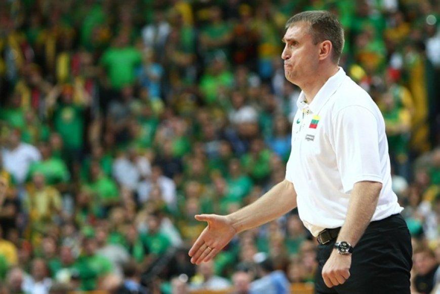 Lietuvos vyrų krepšinio rinktinės treneris Kęstutis Kemzūra