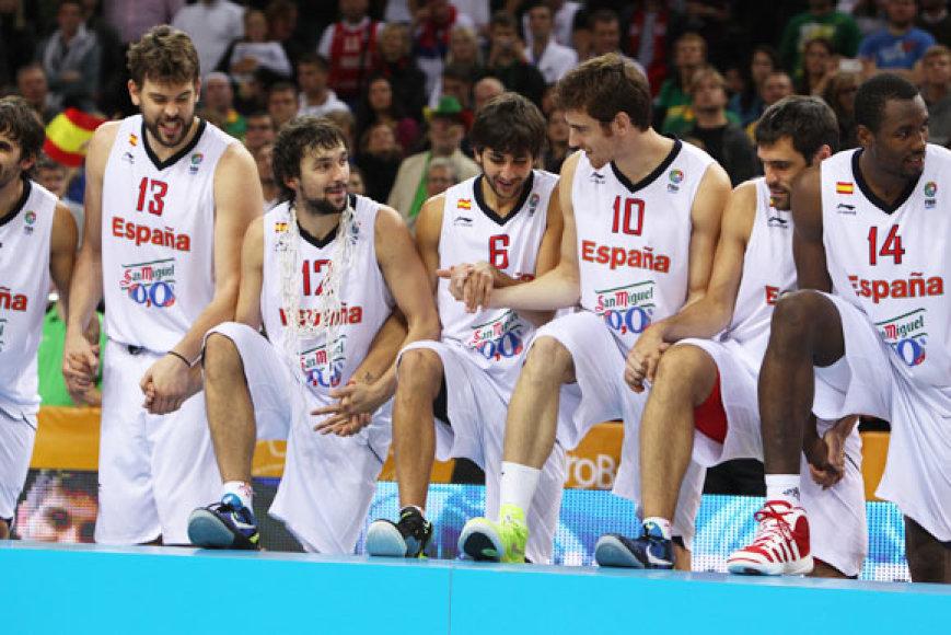 Ispanijos krepšininkai lipa ant pirmos vietos pakylos
