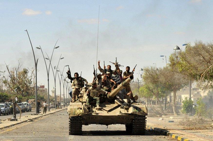 Libijos sukilėliai Sirto mieste