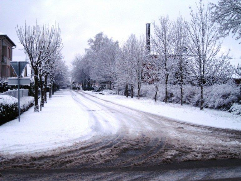 Sniegas Mažeikiuose