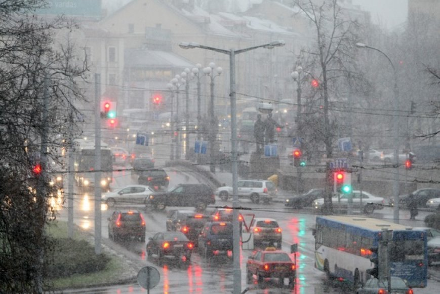 Sniegas Vilniuje