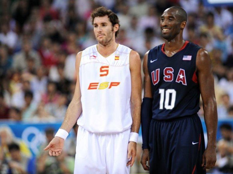 Kobe Bryantas ir Rudy Fernandezas