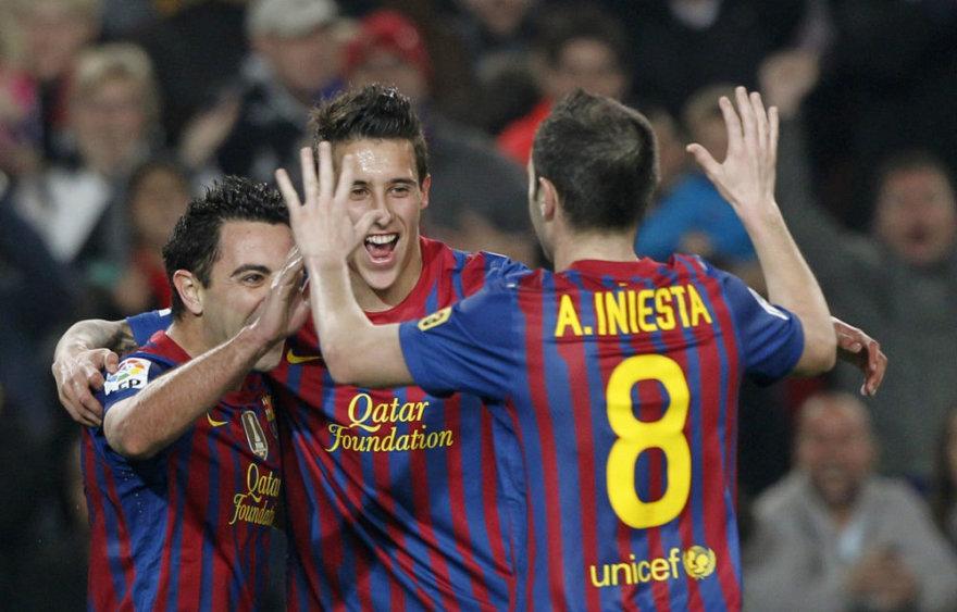 Finale kausis Barselonos ir Bilbao klubų futbolininkai
