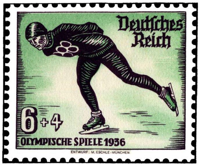 1936 m. Olimpinių žaidynių Vokietijoje pašto ženklas