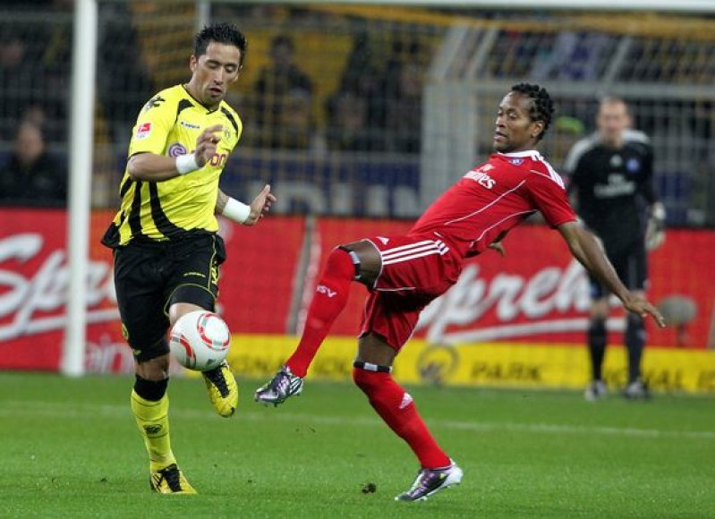 Dortmundo futbolininkai namuose 2:0  nuglėjo Hamburgo ekipą