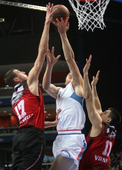 J.Valančiūnas rungtynėse su Zagrebo ekipa