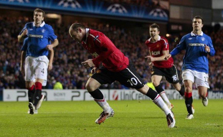 W.Rooney realizuoja 11 m baudinį