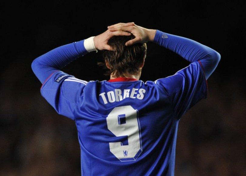 Fernandui Torresui nepavyko pasižymėti ir vakarykštėse UEFA Čempionų lygos rungtynėse.