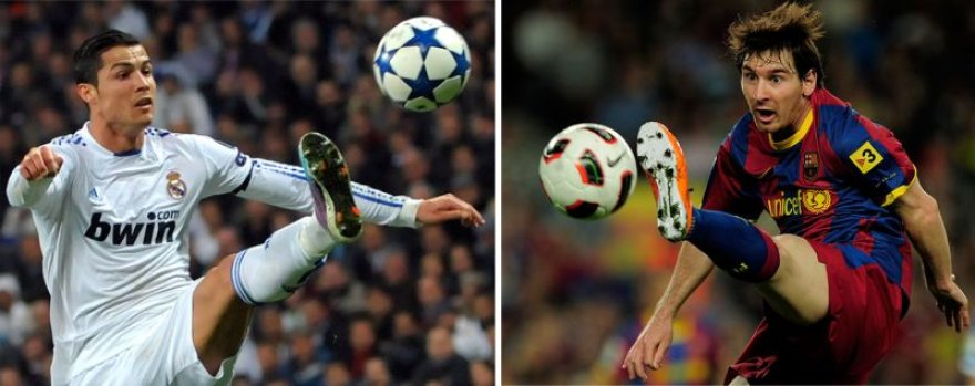 Cristiano Ronaldo prieš Leonelį Messi