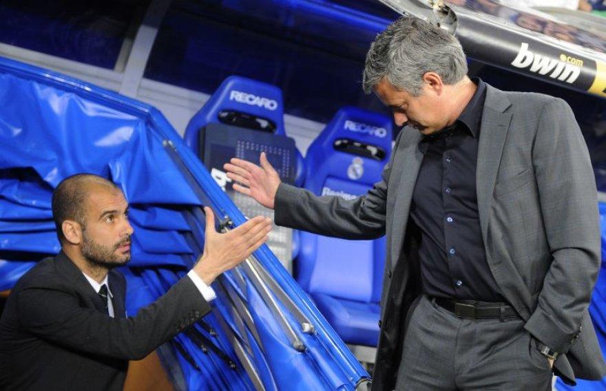 Jose Mourinho ir Pepe Guardiola