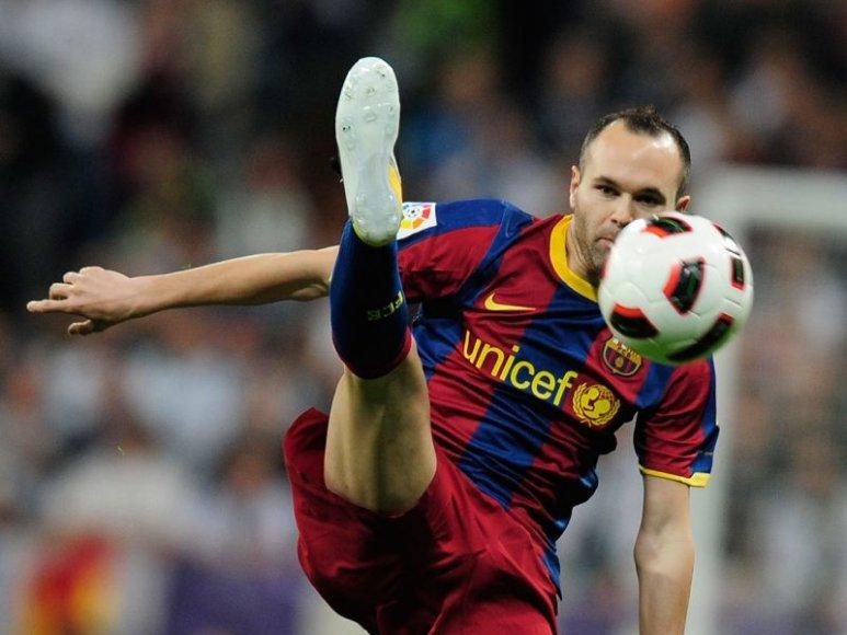 Andresas Iniesta gali praleisti pirmąjį Čempionų lygos pusfinalio mačą