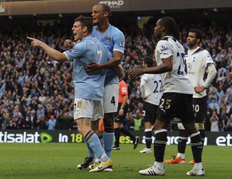 Mančesterio futbolininkai šventė pergalę minimaliu rezultatu.