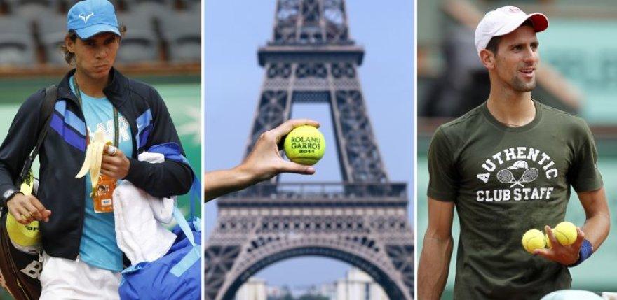 """Teniso žvaigždės ruošiasi """"Roland Garros"""" startui"""