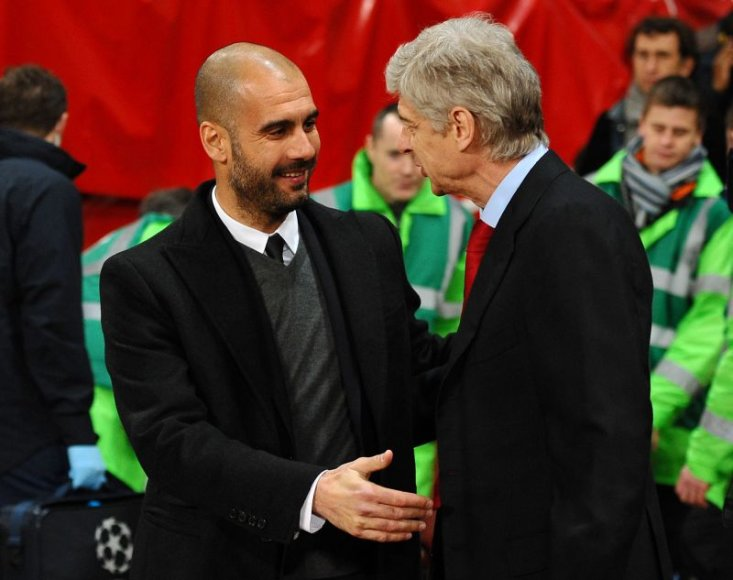 Josepas Guardiola ir Arsenas Wengeras