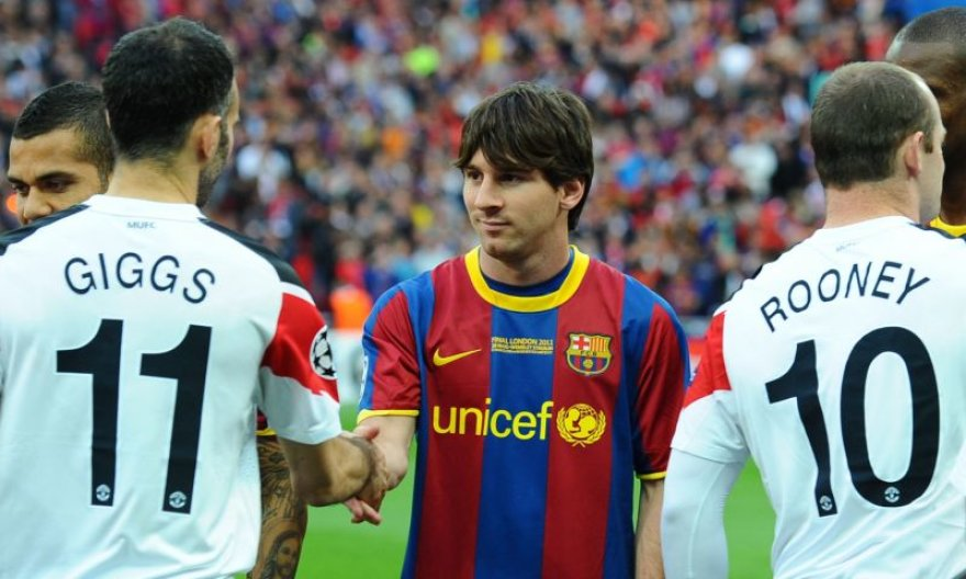 Messi ir Rooney Čempionų lygos finale