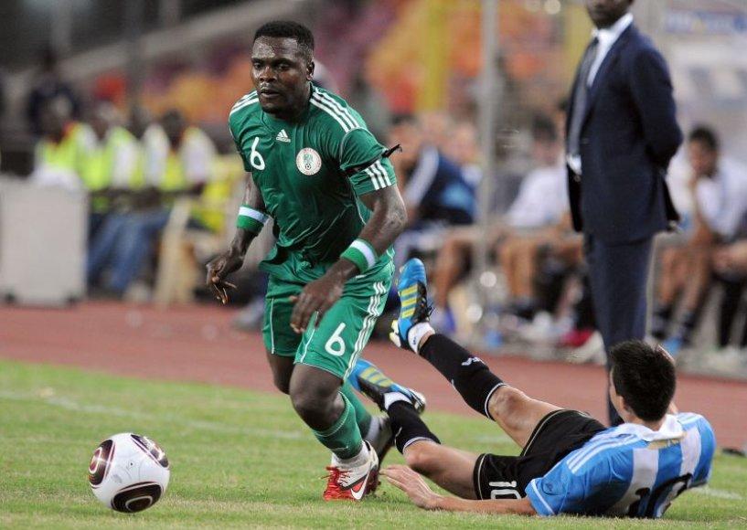 Rungtynių tarp Nigerijos ir Argentinos akimirka