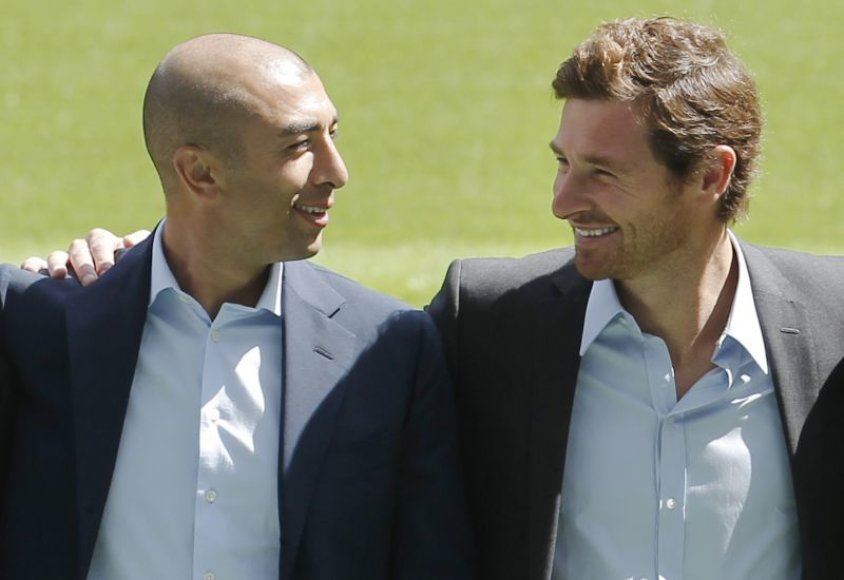 Naujasis vyriausiasis treneris Andre Villas-Boasas ir jo asistentas Roberto Di Matteo