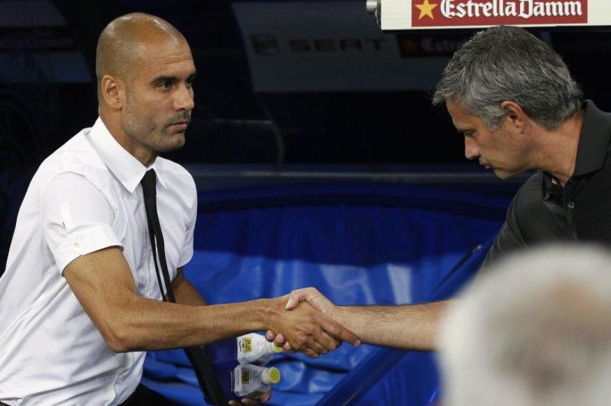 Pepe Guardiola ir Jose Mourinho