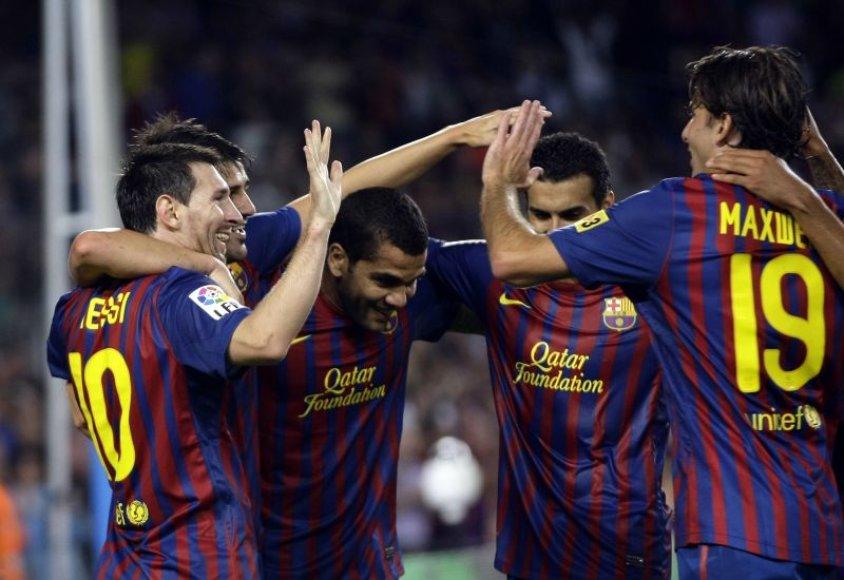 Barselonos futbolininkai pasiekė nesunkią pergalę