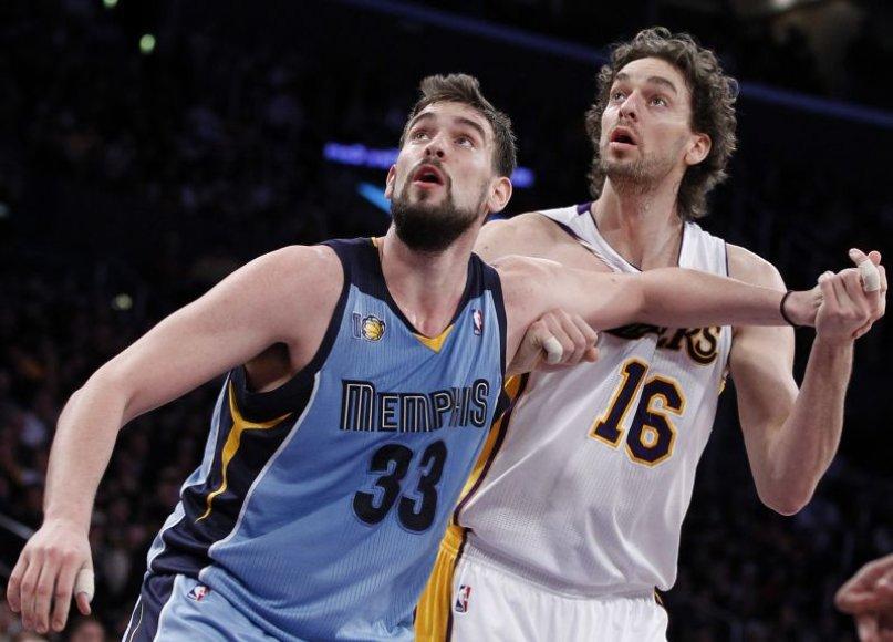 Pau ir Marcas Gasoliai NBA lygoje