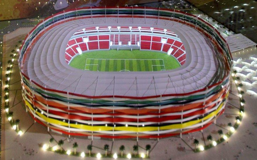 Vieno iš Kataro stadionų vizuralizacija