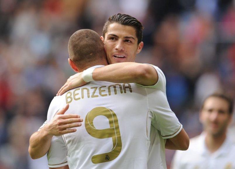 Rungtynių didvyriai: Cristiano Ronaldo ir Karimas Benzema